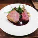 モンプチコションローズ - ニュージーランド産仔羊   千葉県産いも豚   甘口のシェリー酒のソース
