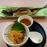 39306621 - ミニうに丼+焼き鯖(中)