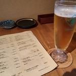 39307028 - まずは生ビールを。キリンハートランド(500円)