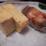 鮨処 八車 - 玉と穴子(特上握り)