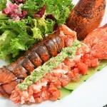 レストラン ビブ - ◆丸ごとオマールエビのサラダ仕立て 岐阜県産サンロードトマトのソース添え