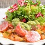 レストラン ビブ - ◆完熟夏野菜のラタトゥイユとフレッシュトマトのサラダ仕立て キュウリのドレッシング