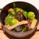 オールデイダイニング オリガミ - 温野菜のココット蒸し。