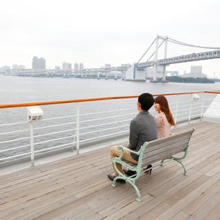東京湾クルージングでデート