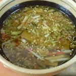 39317224 - 201506つけ中華麺¥830 つけ汁