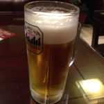 玉華園 - 生ビール 中