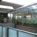 ラ・テラス・ダニエル - 明るいガラス張りのお店です