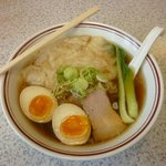 喜多の味らーめん - 醤油ワンタン麺(750円)+味玉(50円)