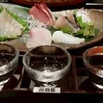Izakayasambai - お刺身盛り合わせ&飲み比べ(冬)