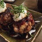 地鶏と酉 大名 へて - 酉バーグ(^^)中に、ゴロゴロお肉が沢山(^^)