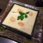 地鶏と酉 大名 へて - 取り分ける茶碗蒸し(^^)