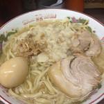 ラーメン二郎 - 小野菜ヌキニンニク少な目アブラ増し味玉