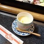 魚もん屋 - 2015年3月 ちらし寿司セットの茶碗蒸し。時間差あったのでソロで。