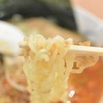 めん宝 - めん宝・ラー油ラーメン 麺近影(2015.04)