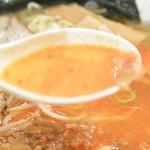 めん宝 - めん宝・ラー油ラーメン スープ(2015.04)