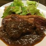 39334140 - 仔羊モモ肉のグリル(800円)。