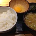 綱島の串屋横丁 - 玉子かけご飯