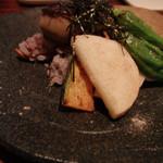 銀座フォワグラ - 野菜もたっぷり