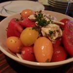 銀座フォワグラ - 数種の彩りトマトサラダ(900円)