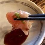 とりビアー 渋谷肉横丁店 - わさび醤油で~。う~~。幸せ~~(*´エ`*)