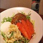 カフェ ミンミ - 料理写真:ロコモコ680円(スープ付き)