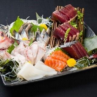 旨い!その日に仕入れた新鮮な鮮魚のお刺身!