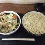 39342250 - 特製もりそば 中+野菜(ミックス)