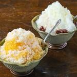花村そば - デザートのかき氷やぜんざいです
