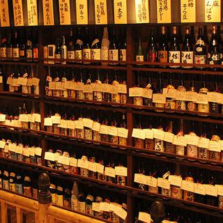 千葉県最大級焼酎のラインナップ