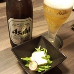 39345653 - 中瓶ビール+お通し