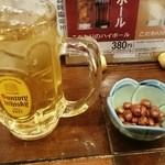 広東酒家 らくらく - 金ハイボール410円+お通しのナッツ