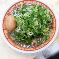 らーめん藤 - 煮卵入りねぎかすラーメン
