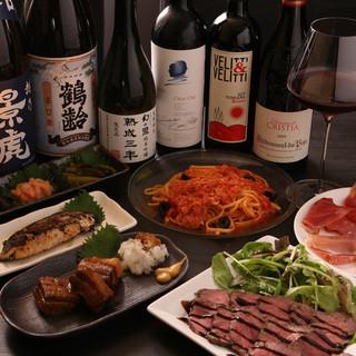 日本酒フードとワインフード