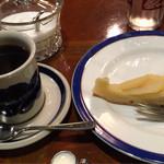 六曜館珈琲店 - ケーキセット 洋ナシのタルト