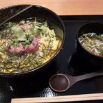 潮騒料理 哉吉 - まぐろのたたき丼 お味噌汁と沢庵がついて800円