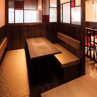 多彩なシーンにご対応の半個室テーブル席