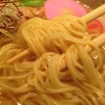 近松 - 塩ら~麺(小春) 麺拡大 @2015/06/26