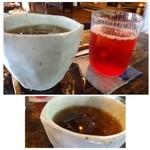 素夢子 古茶家 - 五味子茶(800円)と梅茶(700円)を頂きました。