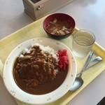 港区役所 レストランポート - カツカレーとお味噌汁