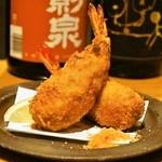 是屋 - 2015.5 大海老まるごと入りメンチカツ(800円)