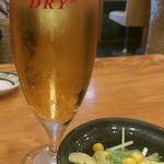 東鮨 新店 - グラスビール(330円)