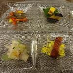 chuugokuryouritouri - 前菜の盛り合わせ