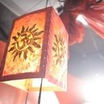 タルカリ - ネパールの紙でつくられたランプシェードです。