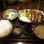 3938391 - 「鶏ささみのはさみ揚げ(今週のおすすめ定食)」800円