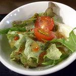 五島列島天然魚と日本酒 郷味 - 「さばの塩焼き(お魚定食)」サラダ