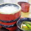 大正庵釜春本店 - 料理写真:釜揚げうどん、鶏
