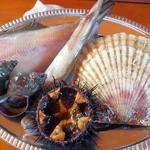 番屋 - 海鮮5品&ミニうに丼セット(2500円)