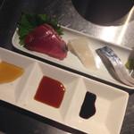 純米酒専門YATA - 渋谷店のみのメニュー、お刺身♪