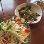 あきん - 豆腐サラダと茄子の煮浸し!