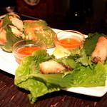 アジアン・ニューヨーク - Lunch Set Menuの生春巻き/揚げ春巻き